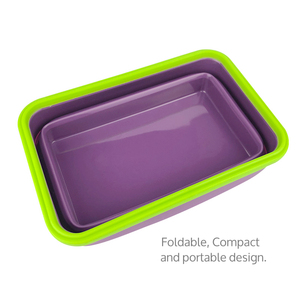 Healthy Food Grade Portable Storage Usage Flexible Silicone Rectangle Cream scraper Food Storage Bowl Silicone Lunch Box