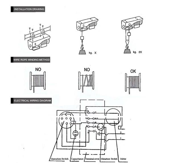 cheap price high quality electric hoist 150kg pa200b electric hoist/  electric hoist pulley system