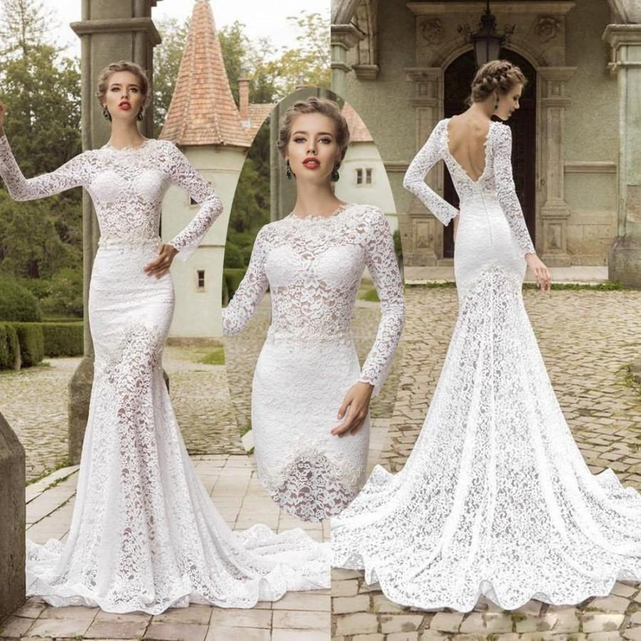 Mermaid Wedding Dresses With Sleeves: Aliexpress.com : Buy Sexy 2015 Wedding Dresses With Long