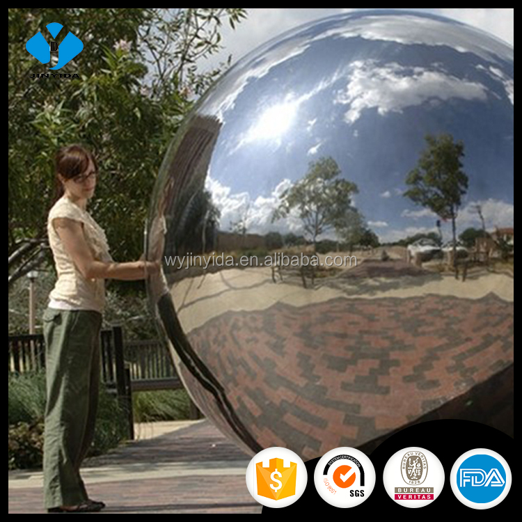 large stainless steel hollow sphere large metal ball sculpture ball with high mirror polishing