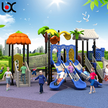 Outdoor Playground Type and Plastic Playground, Plastic and metal part Material kids slide play equipment