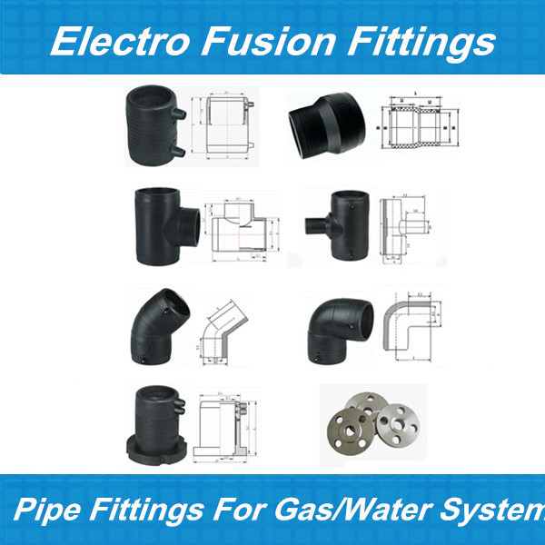 Electrofusion pe polyethylene pipe fittings for gas sdr