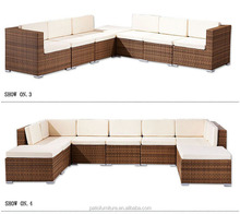 Commercial Outdoor Furniture Table And Chairs Poly Rattan Garden Sofa Set Single Seat For Hotel Resort