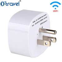 Wireless remote control universal electrical wall outlet wi-fi socket