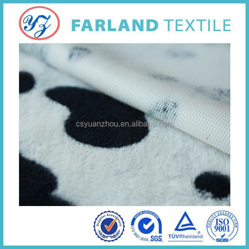 Top-grade Superfine Cow spots Printed Plush Blanket / Excellent Home Textile, Bedding Set