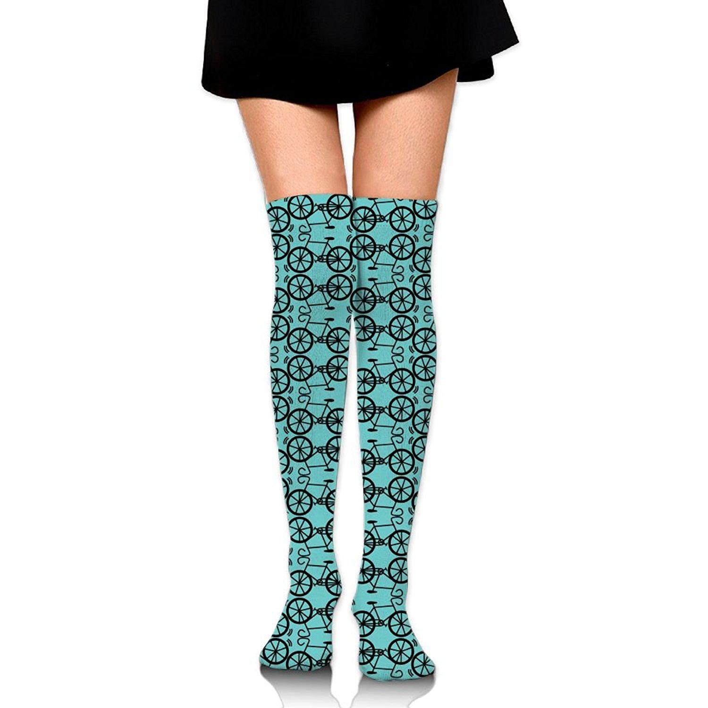 Zaqxsw Bicycle Women Unique Thigh High Socks Thermal Socks For Ladies