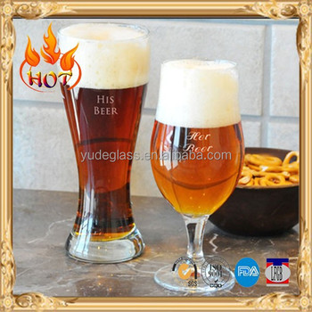 customize half pint beer glasses/pilsner glass wholesale