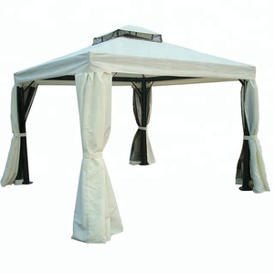 3x3M outdoor aluminum frame garden rome gazebo pavilion tent with curtain and mosquito net
