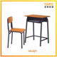 Adjustable kids study desk and chair student used school furniture