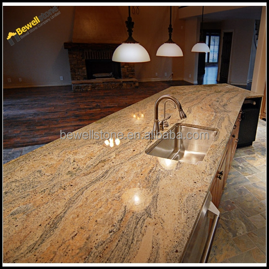 Raw silk brown granite silk stone countertops for kitchen for 3 4 inch granite countertops