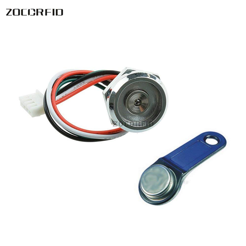 Free Shipping!50pcs Ds1990a Ibutton Ds9092 With Red Led Light Zinc Alloy Socket Probe-reader Access Control