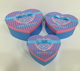 Heart shape cardboard gift box for happy birthday party