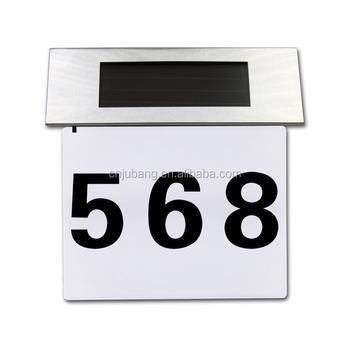 Eenvoudige Ontwerp Zonne-energie Led Doorplate Lichten/huis Nummer ...