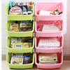 New design stackable Multi-functional plastic storage rack/Kitchen box/Bathroom box plastic storage basket with handle