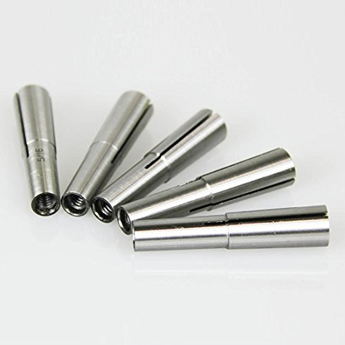 "5 PC #1 MORSE TAPER COLLET SET 1/16"" TO 5/16"" 1MT MT1 1/8"" 3/16"" 1/4"" ROUND"