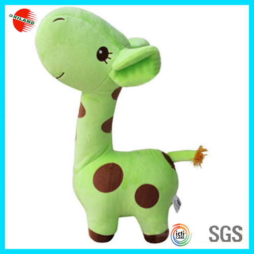 Promotional Most Popular Cute green plush giraffe