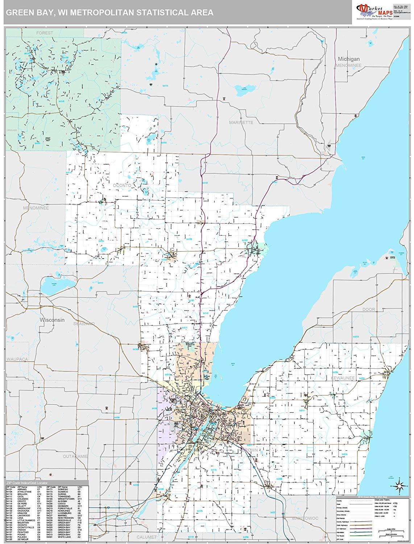 green bay area zip code map