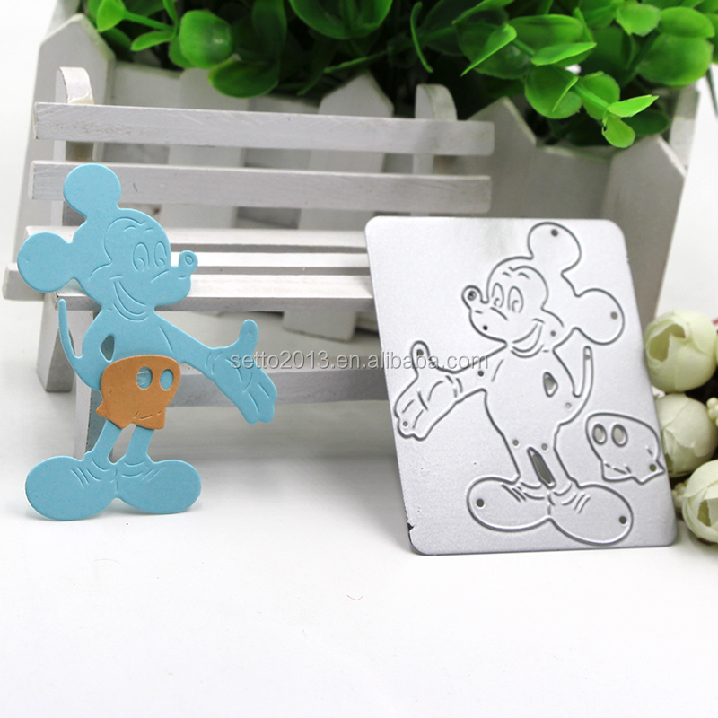 2017 Mickey Mouse Metal Cutting Dies Stencils for DIY Scrapbooking/photo album Decorative Embossing DIY Paper Cards Craft Gift