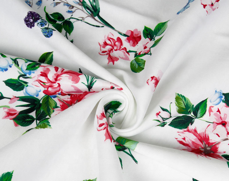 100% cotton customized textile flower digital printed cotton poplin fabric cotton voile fabric