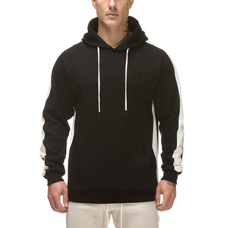 OEM wholesale fashion long sleeve <strong>black</strong> <strong>hoodie</strong> white strings pullover <strong>hoodie</strong> <strong>black</strong> hoodies <strong>men</strong>