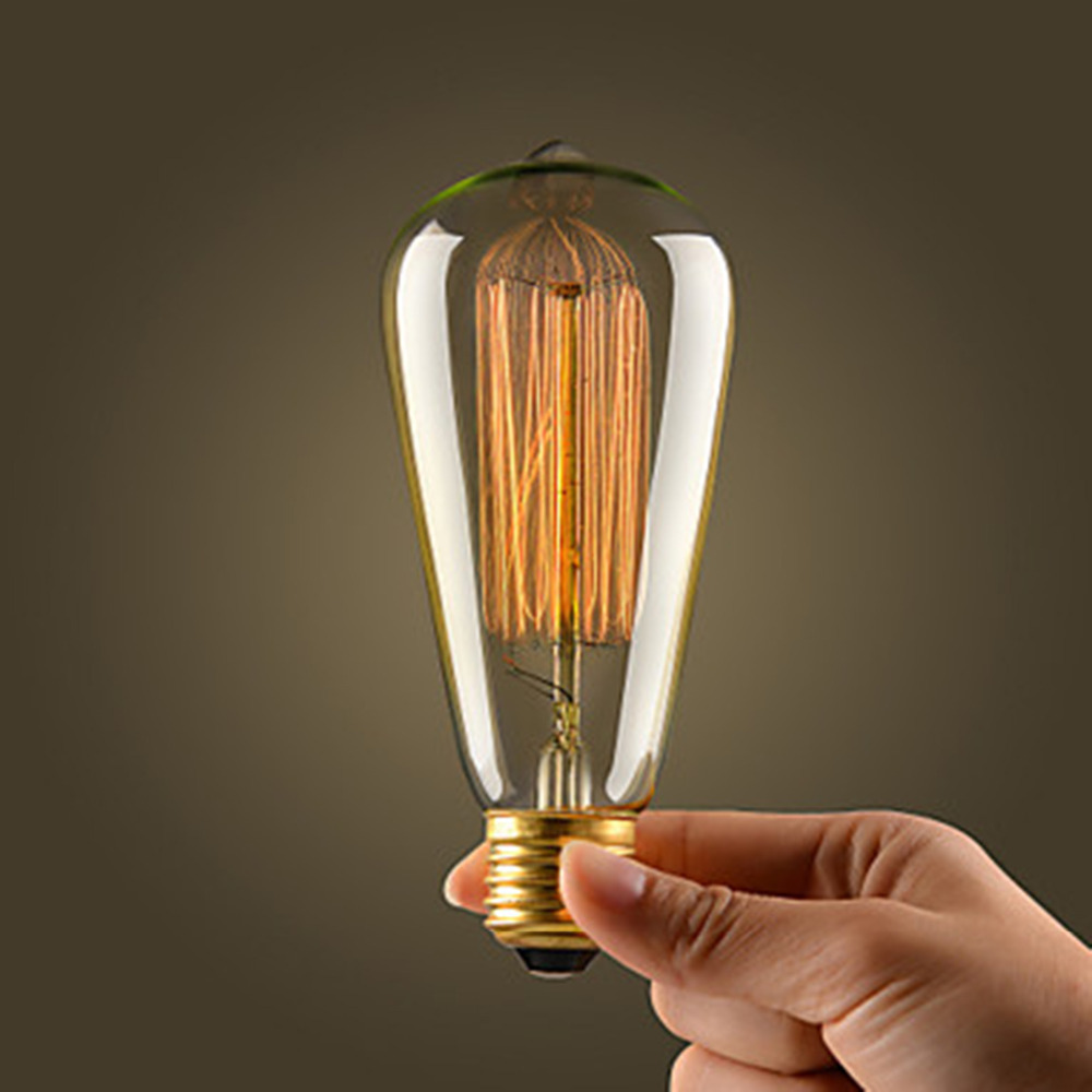 yx a20 retro led incandescent vintage light bulb handmade. Black Bedroom Furniture Sets. Home Design Ideas