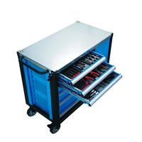 Competitive price of metal drawer tool trolley/tool cabinet/rolling tool cart with tools set