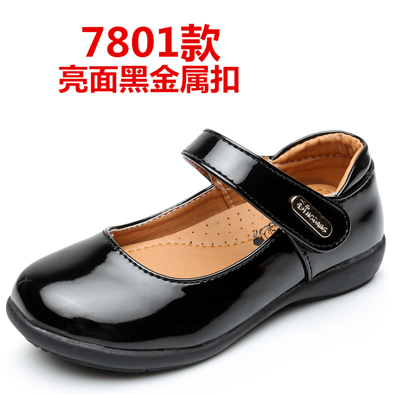 GUGUTREE 26-40# girls school shoes pu casual students school shoes