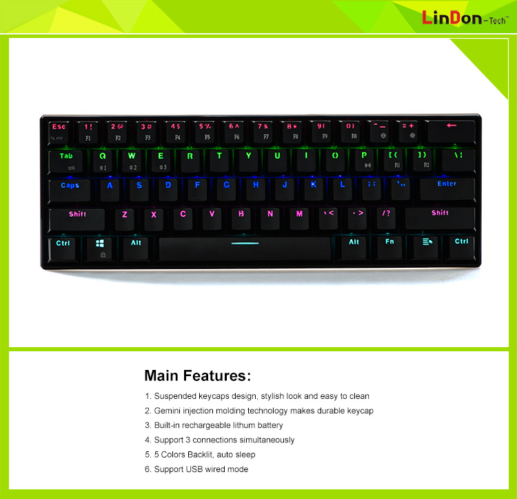 New Style Made In China Bluetooth Mechanical Keyboard For Gaming ...