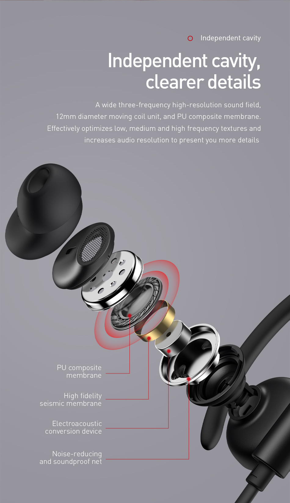 Baseus Encok Wireless Headphone S17 BV5.0 For Bluetooth Earphone Ear Hook sport earphone & headphone