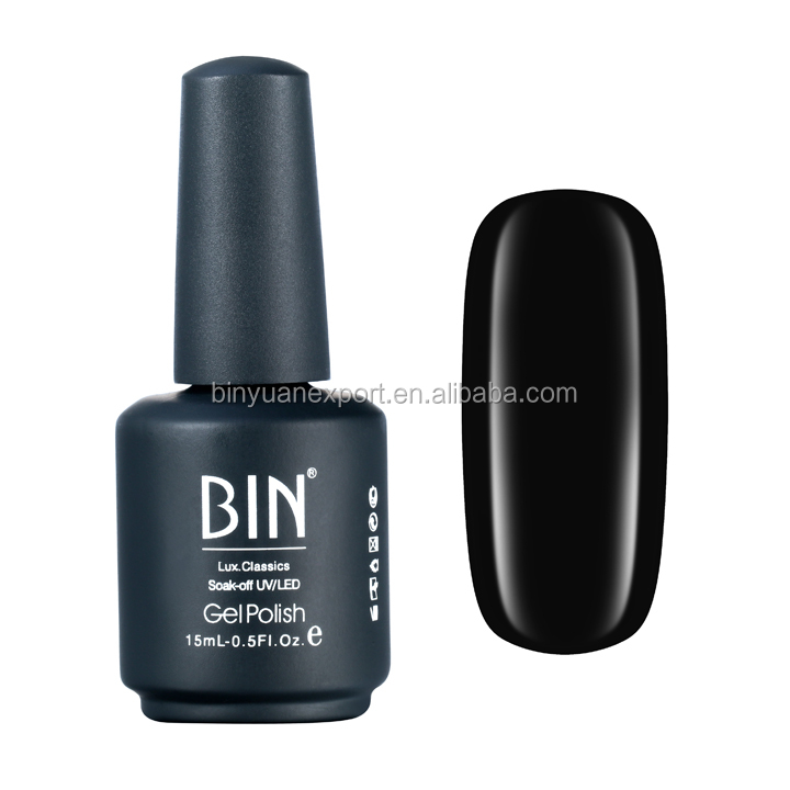 2017 Bin Nail Painting Supplies Black Color 15ml Uv Gel Polish - Buy ...