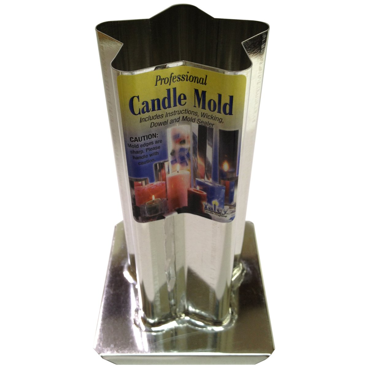 Yaley Professional Metal Candle Mold, 3 by 6.5-Inch, 5-Point Rounded Star
