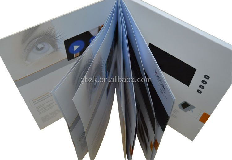 Business gift video brochure booklet/touch screen lcd video brochure/video brochure catalogue for presentation
