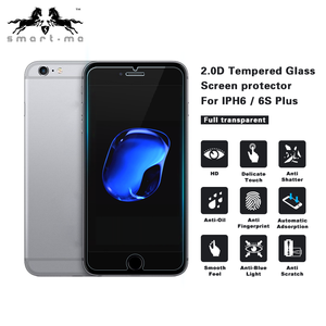 Easy to Install 0.40mm thickness high clear 9h tempered glass screen protector for iphone 6/6s plus