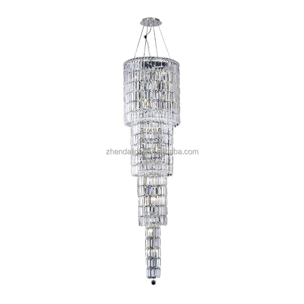 wholesale modren flat 3-tier wedding decor fancy crystal pendant light