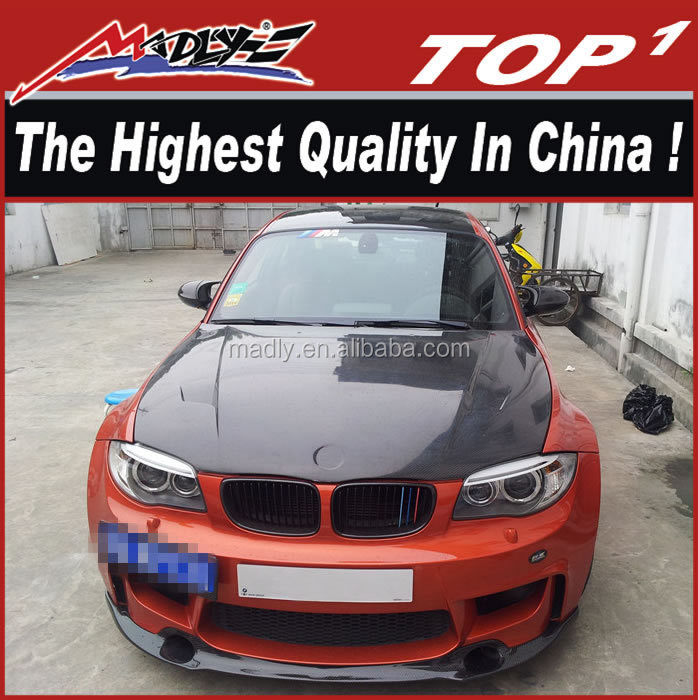 best fittment high quality carbon fiber body kit for BMW 1SERIES 1M style body kit
