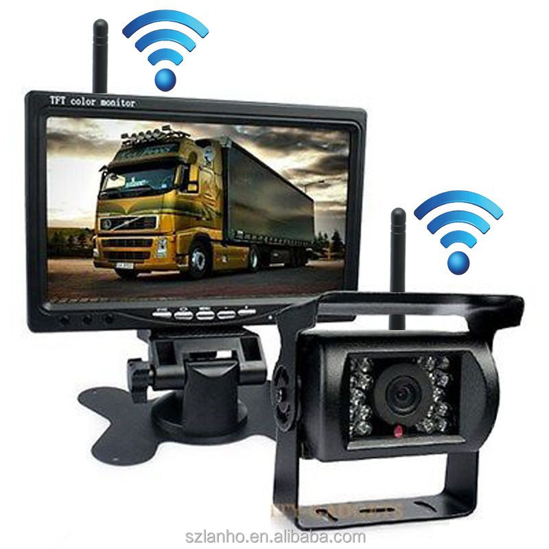 "Wireless Car Rear View Reverse Camera HD 7"" Monitor for Truck Trailer 2x Antenna"