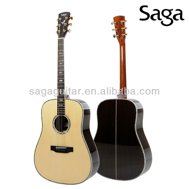 High Quality Handmade All Solid Acoustic Guitar From Saga,Sl10 ...
