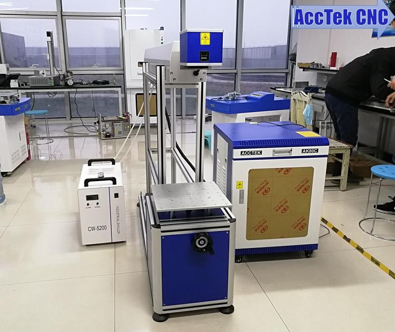 80W 120W 150W glass reci tube laser marking machine co2 for leather wood
