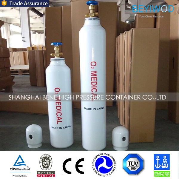 Small steel Medical Oxygen Cylinder