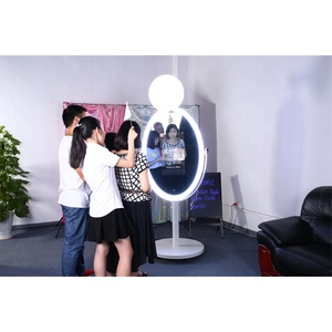High Tech Photo Booth, Sale Photo Booth Oval, Led Light Photo Booth With  Printer