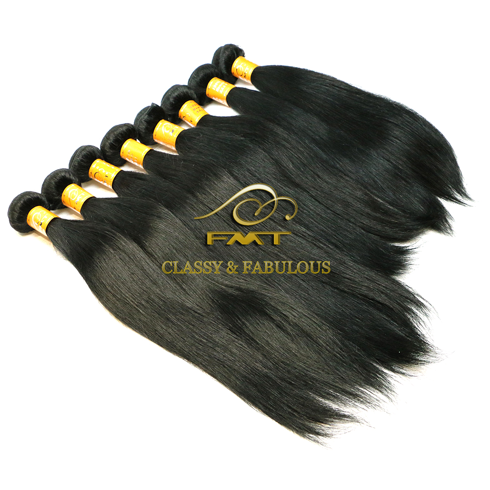 Easy Sell Straight Virgin Indian Hair Wholesale 100% Virgin Real Girl Pussy Hair