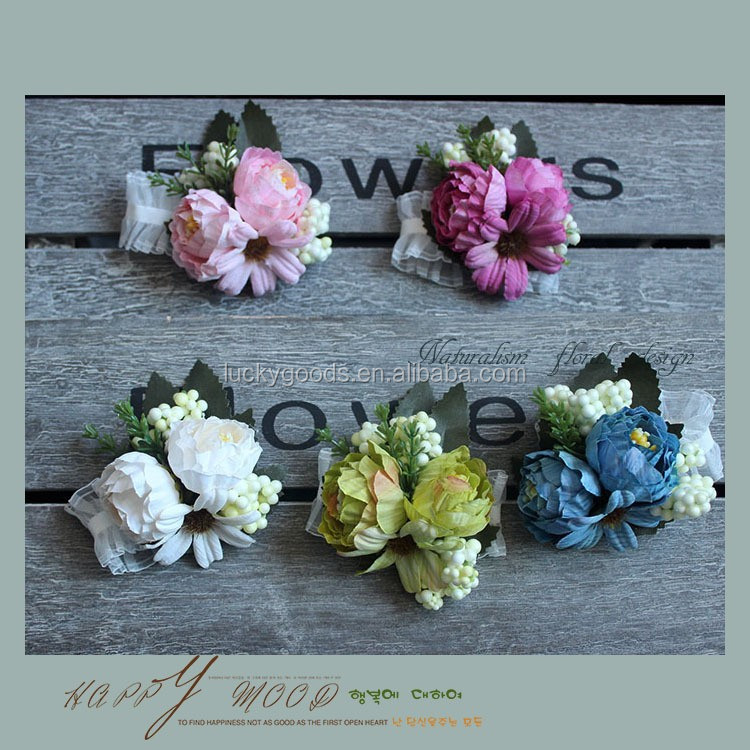 LBF025 latest Korean style fancy wedding party brooch flower wholesale