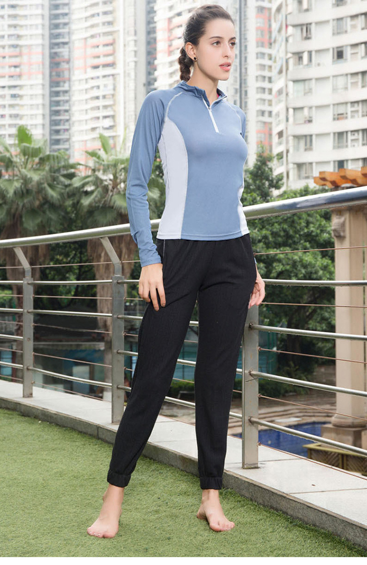 High Quality Dry Fit Women Sports Wear Long Sleeve Fitness Sport Shirt Yoga Tops Breathable Half Zip Sweatshirt
