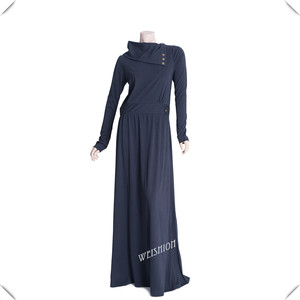WS373 lycra 100% cotton silk route abaya