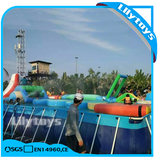 Factory price high quality above swimming pool metal frame pool with filter
