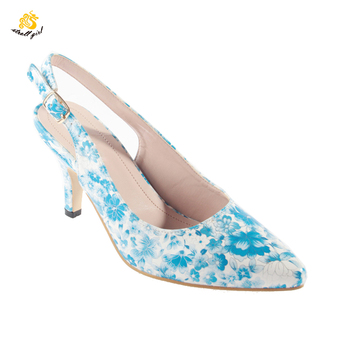 Infinite Stroll Girl DZ190003 Woman Customized Shoes Sling Back Print Heels Your Own Brand Shoes