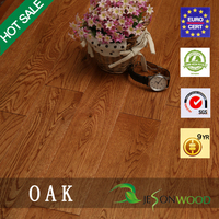 Solid white oak hardwood flooring Flat/Smooth surface UV finished/unfinished