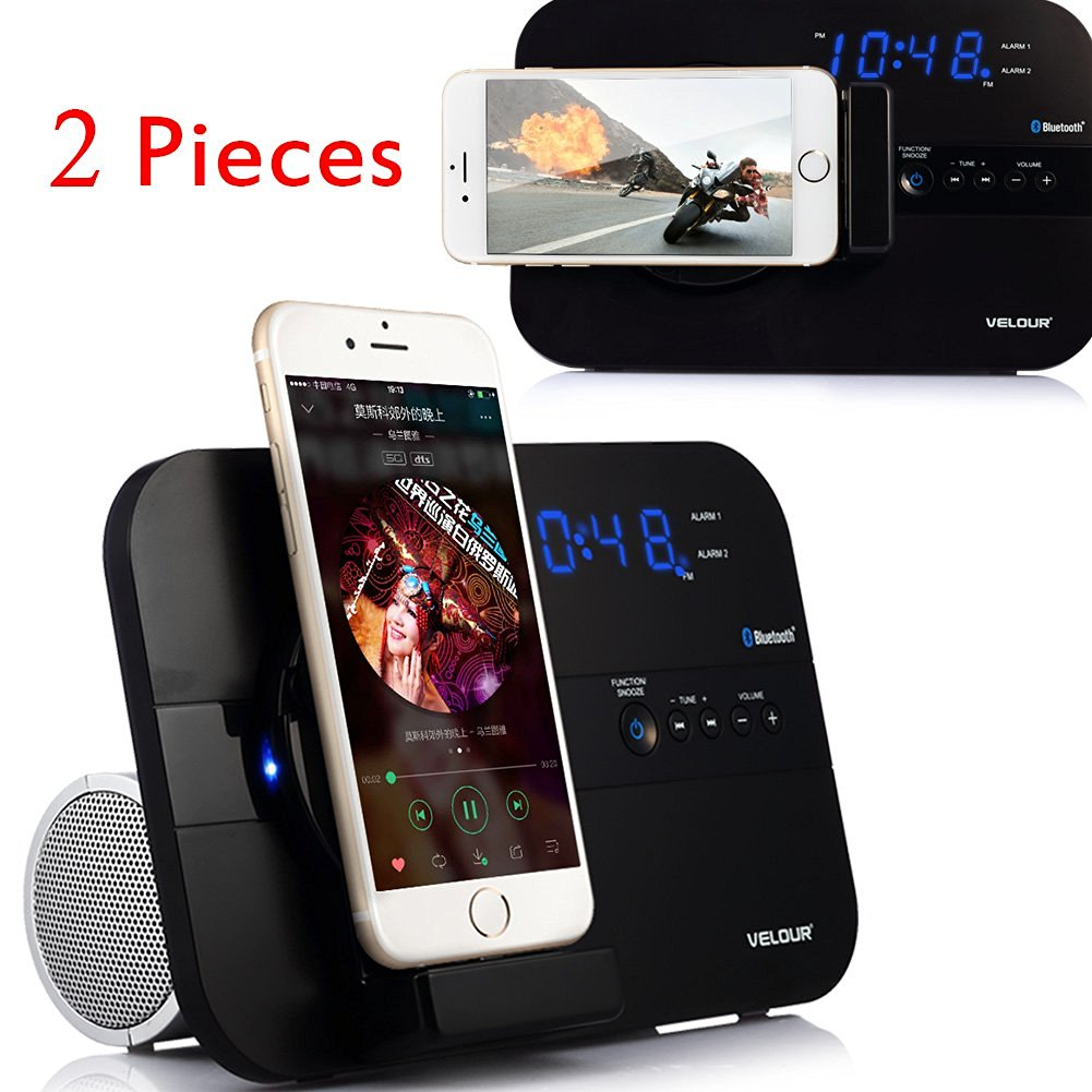the best attitude dca1b e66e9 Buy VELOUR YW-008-2 Lightning Speaker Dock for iPhone 6S,6,6plus, 5 ...
