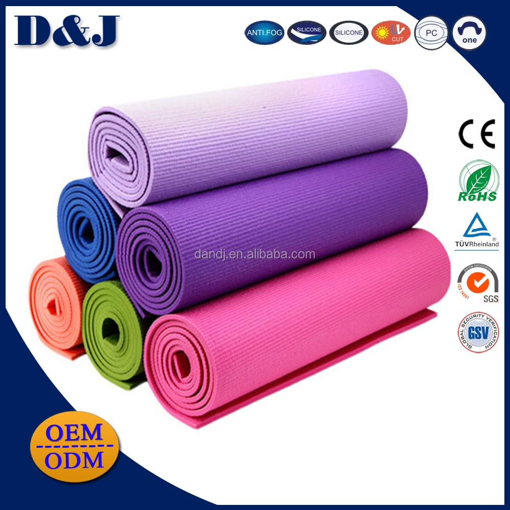 Multi Thickness 6-10mm TPE Natural Rubber Yoga Mat with Bonus Carry Strap