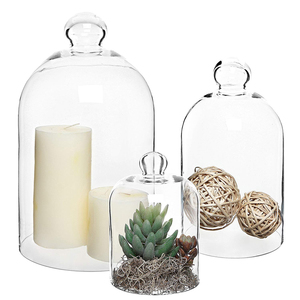 Decorative Clear Glass Centerpiece Dome Display Wholesale Glass Bell Jar Dome